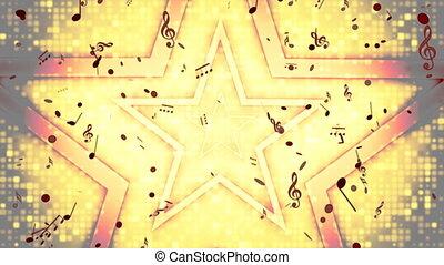 Retro Rock Star Looping Background