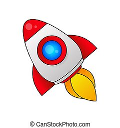 Retro Rocket Icon For Your Desktop And Design Vector