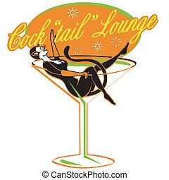 retro, rocznik wina, rozwalanie się cocktailu, znak