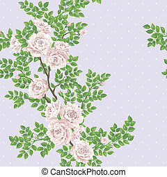 Retro romantic pattern with roses - Retro romantic seamless ...