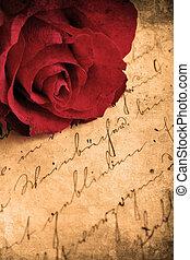 Retro Rose - Retro look of beautiful red rose
