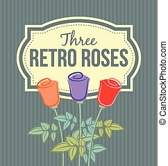 Retro roses