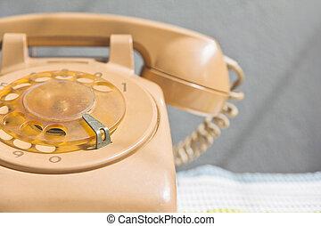 retro rotary dial telephone