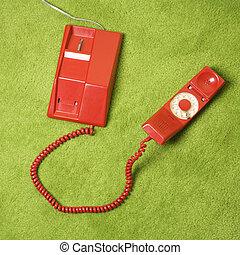 Retro rotary telephone.