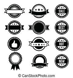 Retro round badges, vintage labels