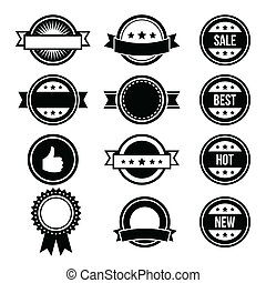 Retro round badges, vintage labels