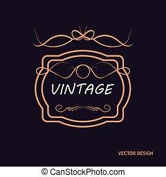 Retro Royal Vintage Shield Logotype. Vector calligraphyc Luxury logo design elements