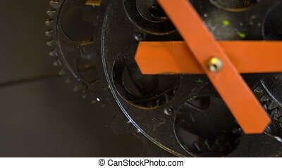Retro Rusty Mechanic Clock Gears