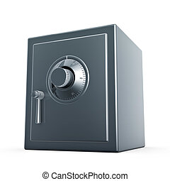 safe case - retro safe case isolated on white background