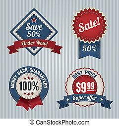 Retro Sale Badges set