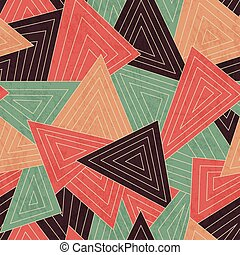 retro scattered triangle seamless pattern with grunge effect