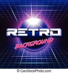 retro sci fi background3 - 80s Retro Sci-Fi Background VHS....