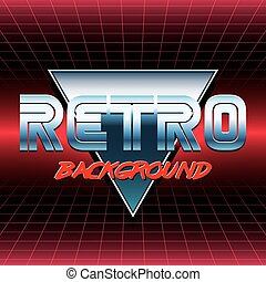 retro sci fi background4 - 80s Retro Sci-Fi Background VHS....