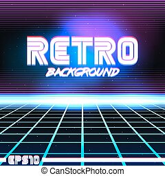 retro sci fi background9 - 80s Retro Sci-Fi Background VHS. ...