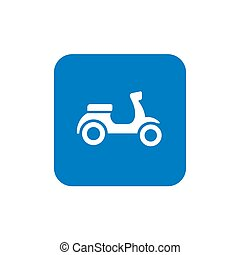 Retro Scooter Icon Design, Motor Cycle or Motor Bike and...