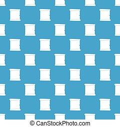 Retro scroll paper pattern seamless blue
