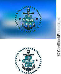 Retro seafarer banner with vintage anchor - Retro seafarer...