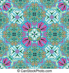 Retro seamless abstract floral pattern. Colorful wallpaper background