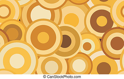 Retro seamless  abstract vector texture with circles