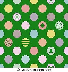 retro, seamless, boże narodzenie, pattern., wektor