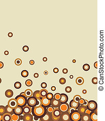 Retro seamless coffee-coloured  horizontal texture