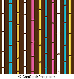 Retro seamless colorful bamboo pattern or texture