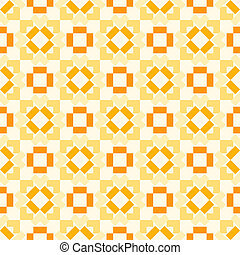 Retro seamless geometric orange vector pattern