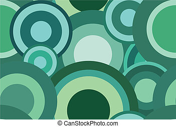 Retro seamless green abstract texture with circles