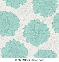 retro, seamless, patrón, con, flores