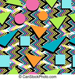 Retro seamless pattern background