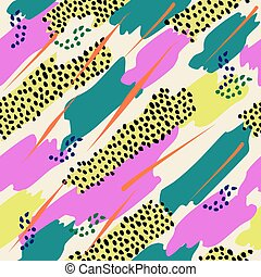 Retro seamless pattern background - Retro vintage 80s...