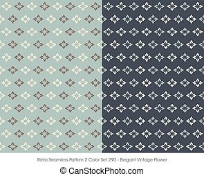 Retro Seamless Pattern Elegant Vintage Flower