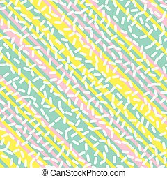 Retro Seamless Pattern in Memphis Style Design - Abstract...