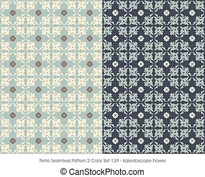Retro Seamless Pattern Kaleidoscope Flower