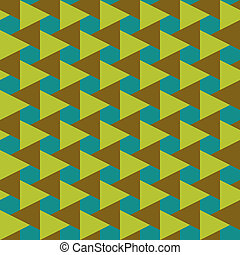 Retro seamless pattern of geometric