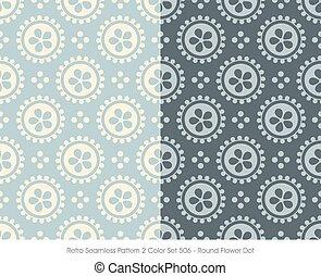 Retro Seamless Pattern Round Flower Dot