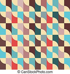 Retro seamless pattern. Vector background