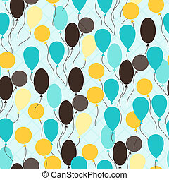 Retro seamless pattern with ballons.