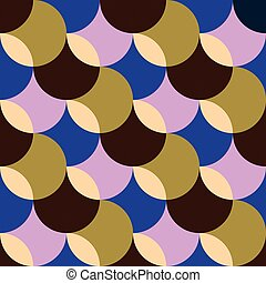 Retro seamless pattern with circles