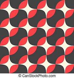 Retro seamless pattern with circles. Colorful vector background