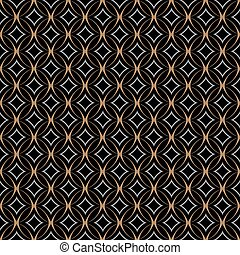 Retro seamless pattern with circles on black