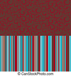 Retro seamless, pattern with color stripes