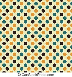 Retro seamless pattern with dots