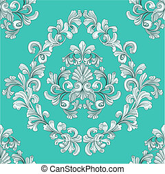 retro seamless tiling floral wallpaper pattern reminiscent of floral victorian designs inspired by greek and roman ornament