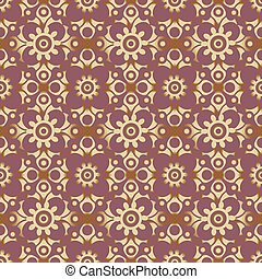 retro seamless wallpaper background round curve cross flower kaleidoscope