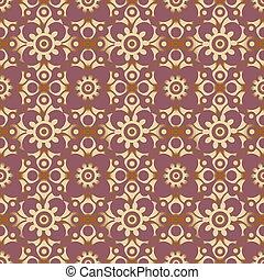 retro seamless wallpaper background round curve cross flower kaleidoscope