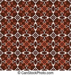 retro seamless wallpaper background spiral curve cross vine flower kaleidoscope