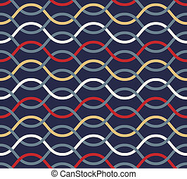 Retro seamless wavy pattern.