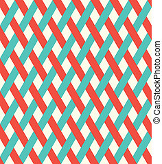 Retro seamless wicker pattern.