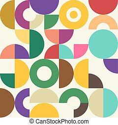 Retro Semi Circle Textile Pattern